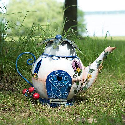 19cm Magic Fairy Garden Teapot House Outdoor Ornament Patio Accessories Decor ()
