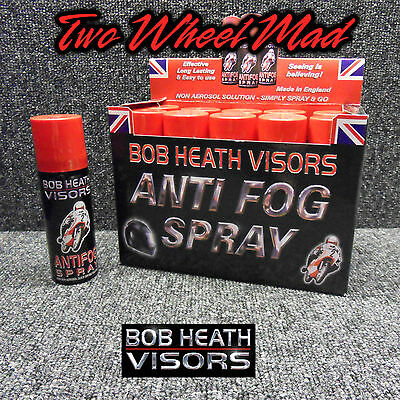 Bob Heath Visors Anti Fog Motorcycle Motorbike Helmet Visor Spray 1x 50ml Can