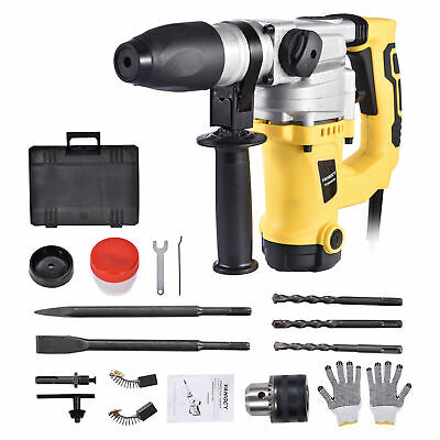 1300w 1-12 Sds Electric Rotary Hammer Drill Plus Demolition Chisel Bits Case