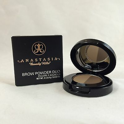 NEW ANASTASIA BEVERLY HILLS Brow Powder Duo DARK BROWN Smudge Proof $23 BOXED