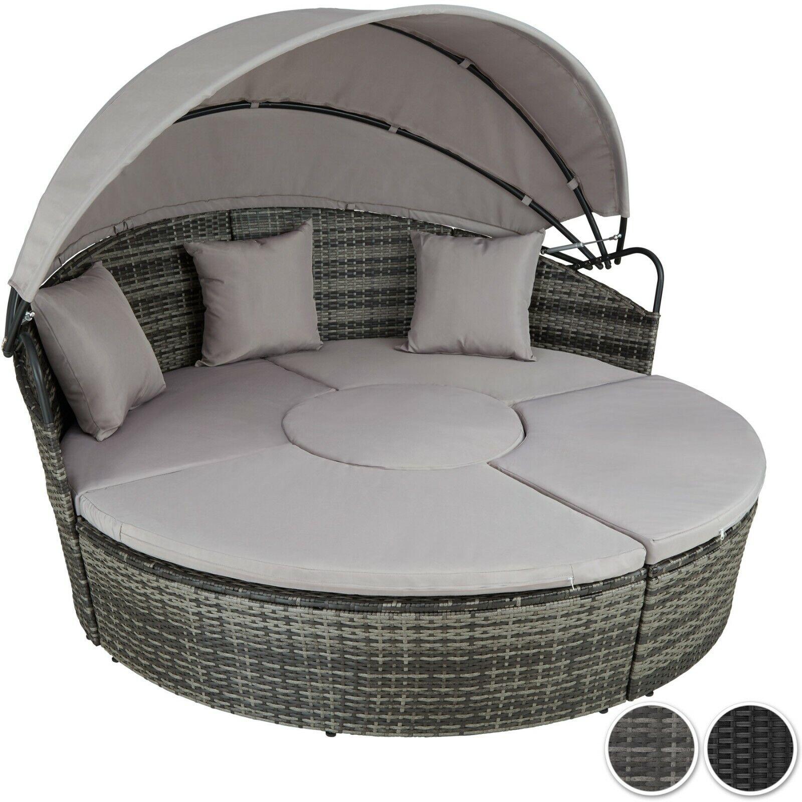 Garden Furniture - Rattan Sun Island Multi Lounge Furniture Garden Sofa Set Seating Patio Outdoor