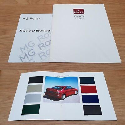 Rover Colours & Trims Metro Flame Red 200 Coupe Tahiti Blue Recaro Brochure