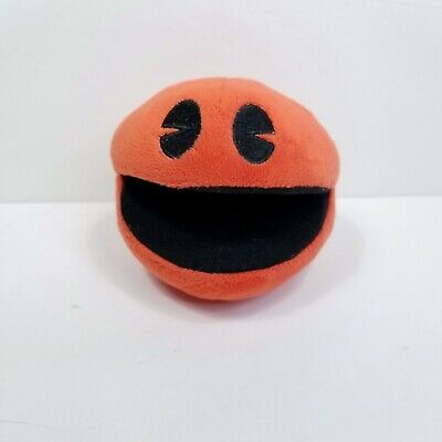 """Red Pac-Man Plush Stuffed Video Game Toy Factory 4"""" Soft Pacman"""