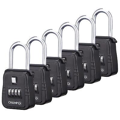 6pcs 4 Dial Metal Lock Box Key Safe Vault Door Hanger For Realtor Real Estate