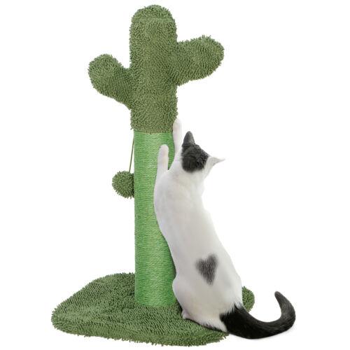 Cat Scratching Post with Teaser Ball The Cactus Cat Scratcher for Kitten Cat Supplies