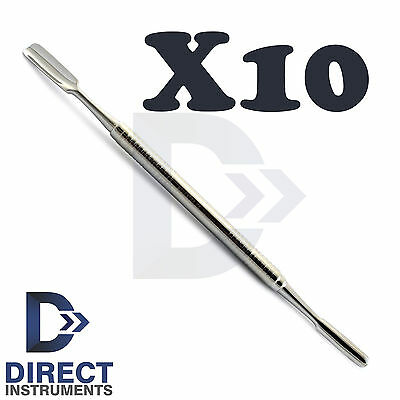 X10 Dental Palti Bone Graft Scoop Double Ended Bone Carrier Implant Instruments