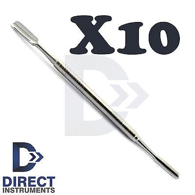 X10 Dental Palti Bone Graft Scoop Double Ended Bone Carrier Implant Instruments