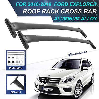 Roof Rack Cross Bar For 16-18 Ford Explorer Luggage Carrier Removable Waterproof
