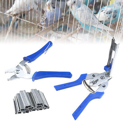 Hog Ring Plier Tool & 600Pcs M Clips Staples Bird Chicken Mesh Cage Wire Fencing Cage Clip Pliers