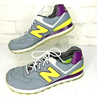 "New Balance 574 Women's Size 11 Grey Purple Yellow ""Street Beat"" WL574SBF"