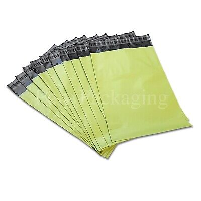 3000 x NEON GREEN MAILING BAGS 10x14