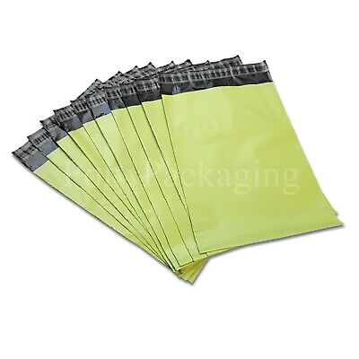 5000 x NEON GREEN MAILING BAGS 10x14
