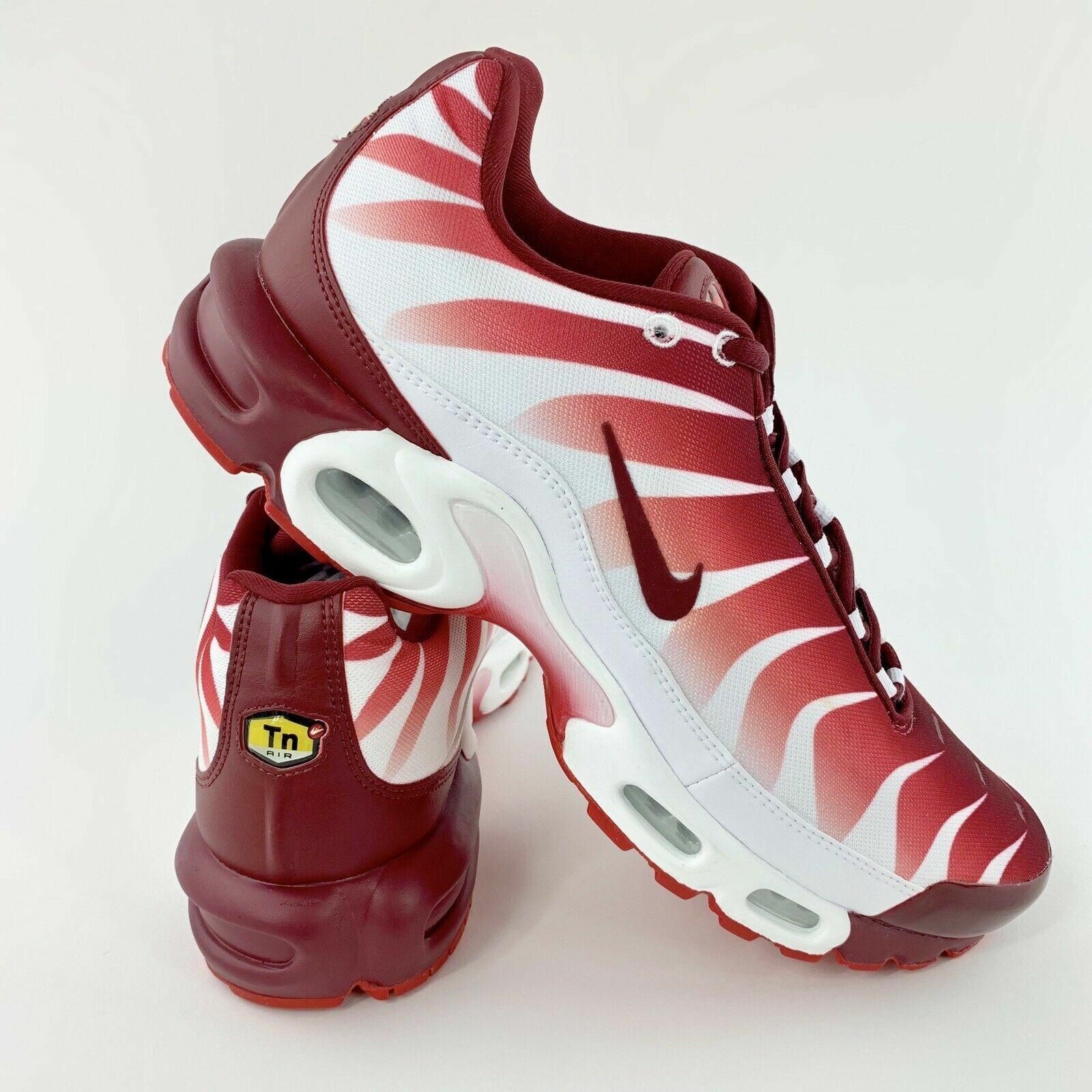 Dettagli su Uomo Nike Tuned 1 Air Max più TN se *Rare* AQ0237101 Bianco Squadra Rosso
