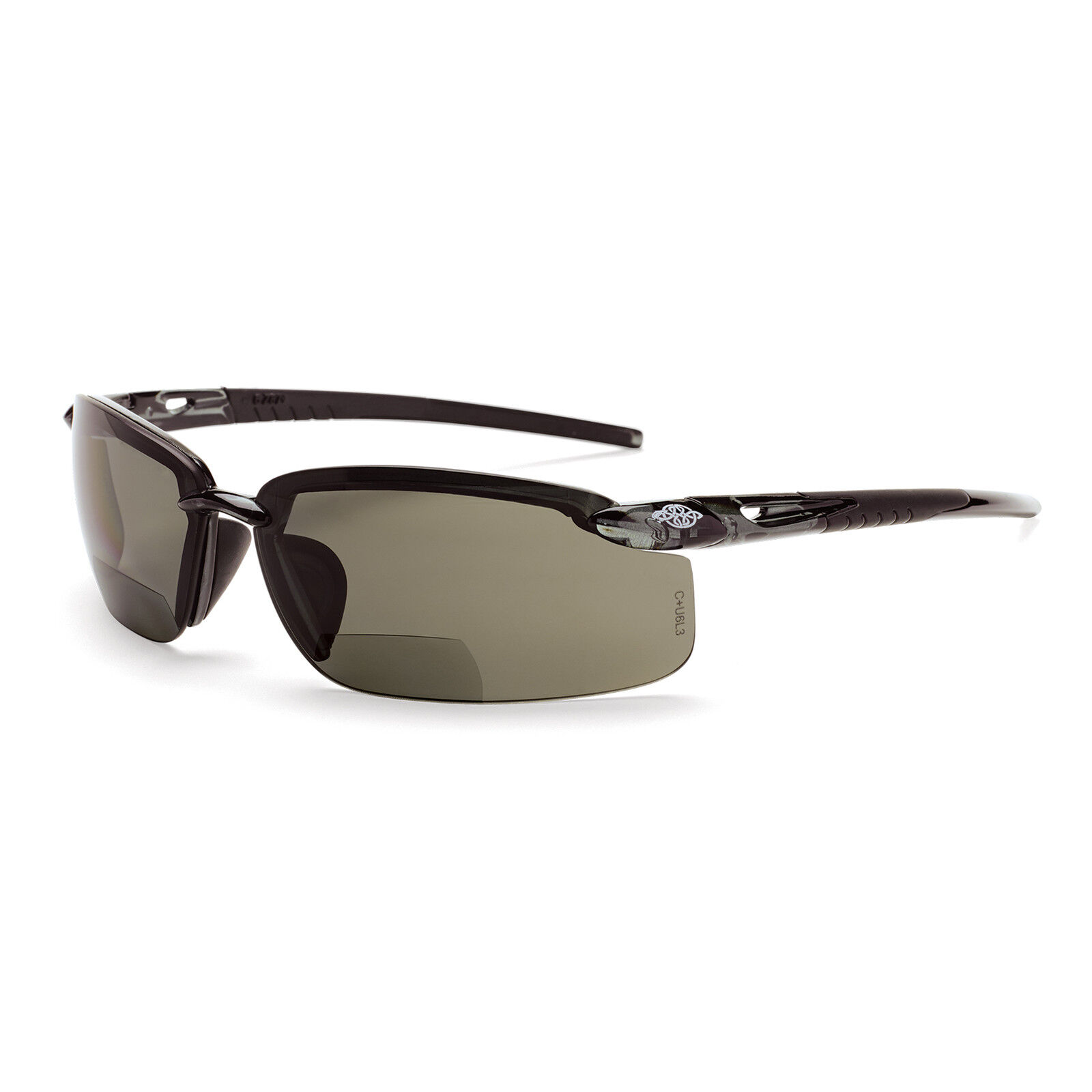 b046ffaea9 Details about CrossFire Bifocal Safety Glasses with 2.0 Polarized Smoke Lens