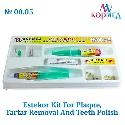 Dental Estekor Kit Plaque And Tartar Removal Polishing Tooth Cleaner Paste Teeth