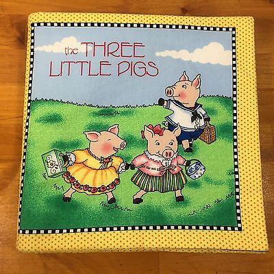 Mary Engelbreit The Three Little Pigs Fabric Book Baby Boy Or Girl Shower Gift