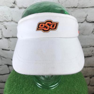 differently e94a8 5e3e6 Nike OSU Mens One Sz Hat White Adjustable Dri-Fit Sun Golf Sport Visor Flaw