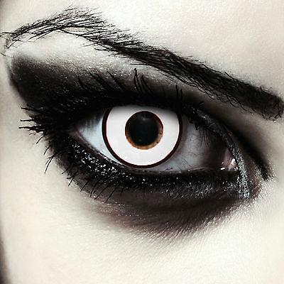 tlinsen mit Stärke Farblinsen für Halloween Kostüm Zombie Eye (Halloween-kostüme Mit Weißen Kontaktlinsen)