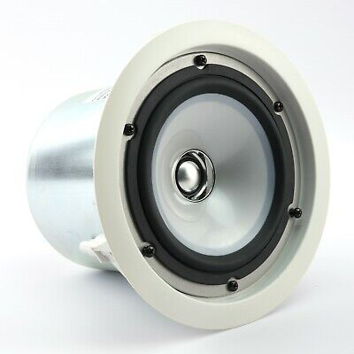 1 x KEF CI130 2QR Round White Ceiling Speaker With Enclosure | Cinema Surround