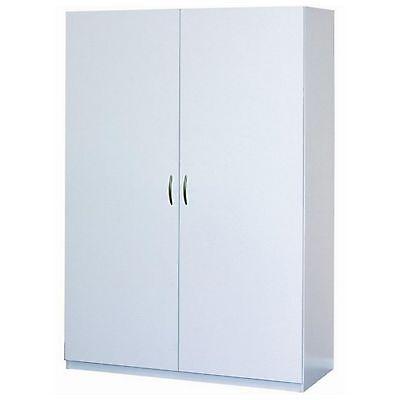 دولاب جديد White Clothing Wardrobe Cabinet Closet Armoire Storage Organizer Bedroom Garage