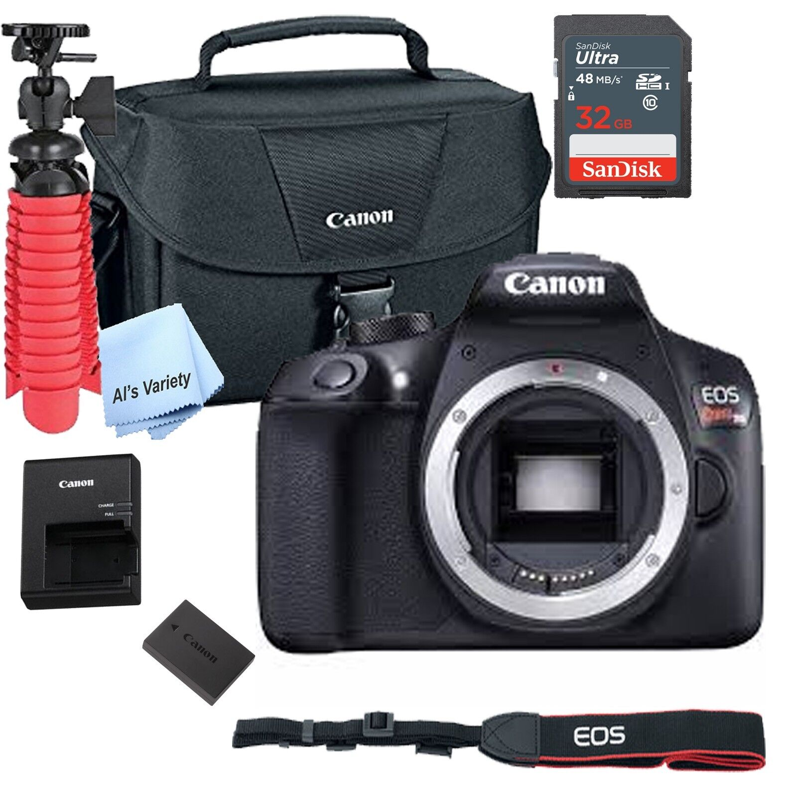 New Canon Rebel T6 SLR Camera Premium Kit  Bag, SD Card