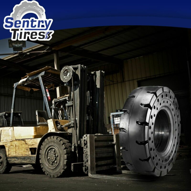 6.00-9 Sentry Tire Solid Forklift Tires (1 Tire) SD PAT. 6.00x9 600x9 600-9