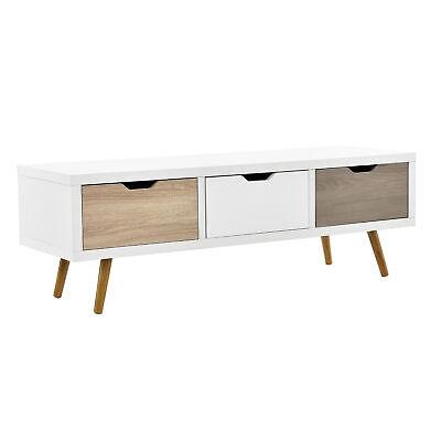 [en.casa] Design TV Lowboard weiß Fernsehtisch Konsole Kommode Schrank Sideboard