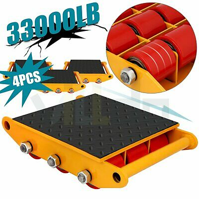 Machine Dolly Skate Machinery Roller Mover Cargo Trolley 15ton 33000lbs 4pcs