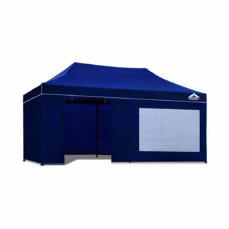 3x6m Outdoor Gazebo Folding Marquee Tent Canopy Shade Po (Blue)
