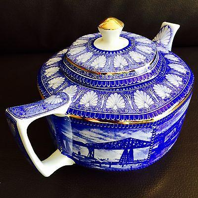 Rare Antique Art Deco (1920s) English Wade Ceramics Collector's Ringtons Teapot