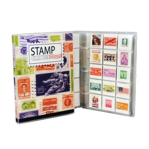 Stamp Collection Kit/Album, w/ 10 Pages, Holds 150-300 Stamps (No Stamps)