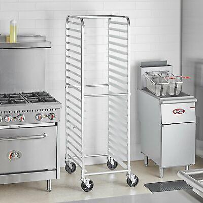 20 Pan Aluminum End Load Restaurant Bakery Bun Sheet Pan Open Speed Rack