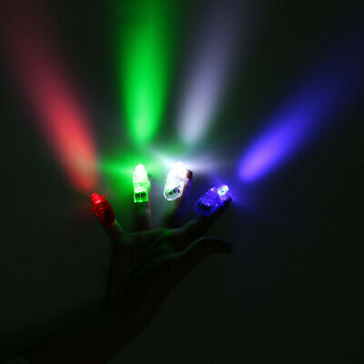 10x LED Fingerlampe bunte Fingerlichter Mitbringsel Fingerring Leuchtring Party