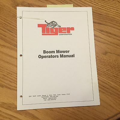 Tiger Trb-50 Trb-60 Tbf-50 Boom Mower Operation Maintenance Manual Guide Book