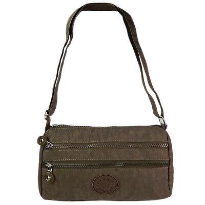 Kleine Süße Umhängetasche Schultertasche Damen Tasche City Reisetasche Braun 1
