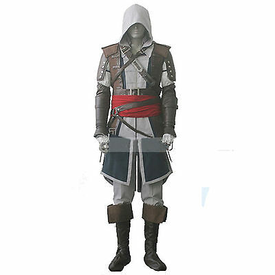 Assassin's Creed 4 Black Flag Kostüm (Assassins Creed 4 Black Flag Edward Kenway Outfit Anzug Uniform Cosplay Kostüme)