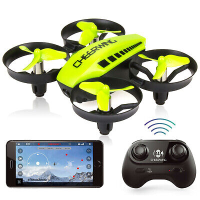 Cheerwing CW10 Mini RC Drone Wifi FPV Drone with 0.3MP Camera Quadcopter Green