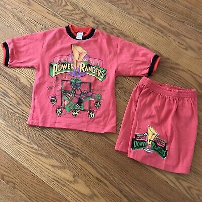 Vintage 90s Bootleg Power Rangers Kids Outfit Size Medium
