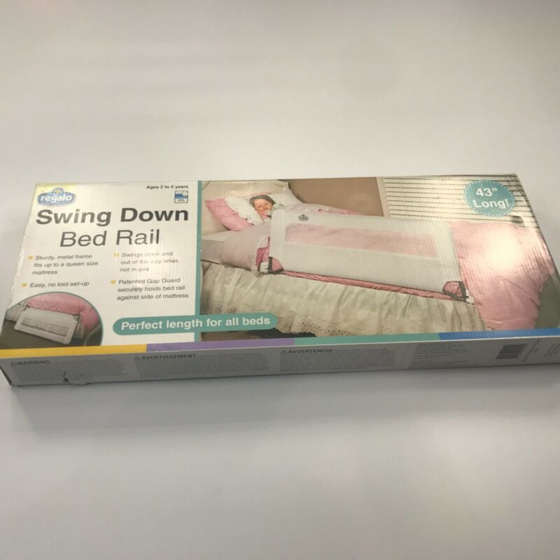 Regalo Swing Down Bed Rail Guard, with Reinforced Anchor Safety System, 43-In