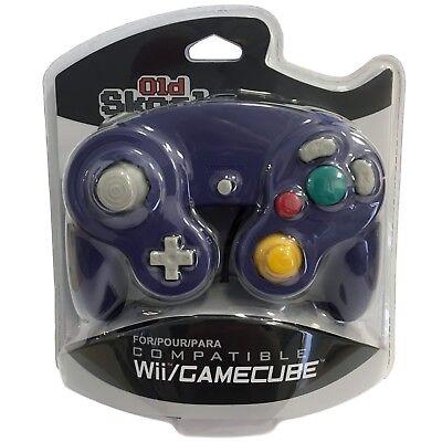 Old Skool Dual Analog Controller for Nintendo Game Cube & Wii - Indigo (Purple)