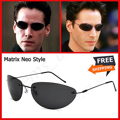 Vintage Classic The Matrix Agent Smith Style Polarized Men Sunglasses Cool (Agent Smith Sunglasses)