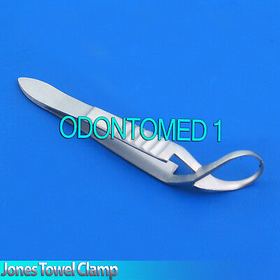 3 Pcs Ent Jones Towel Clamp 3.5 Surgical Ent Veterinary New Instruments