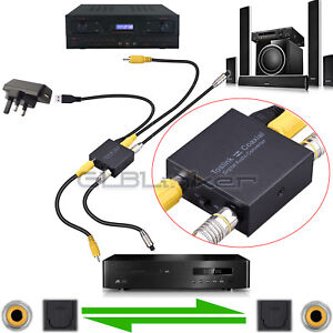 TWO Ways Digital Optical Toslink SPDIF Coaxial to Coaxial SPDIF Audio Converter