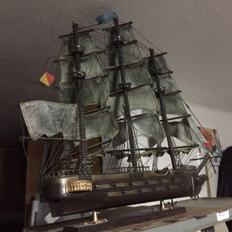 Antique Wooden Model USS Constitution 1814