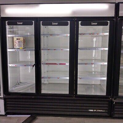True Gdm-72 Glass 3 Door Beverage Merchandiser Reach In Refrigerator Cooler Nice