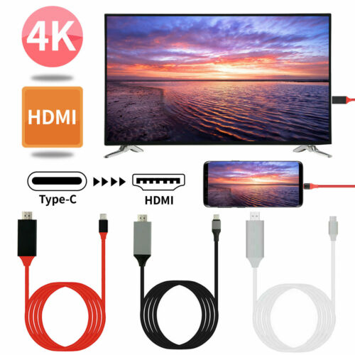 USB C to HDMI Adapter Cables 2M Type C to HDMI Cable for MacBook Samsung Galaxy