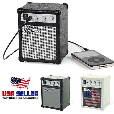 My Amp Classic Guitar Amplifier Shaped Portable Mini Mp3 Retro Computer Speaker
