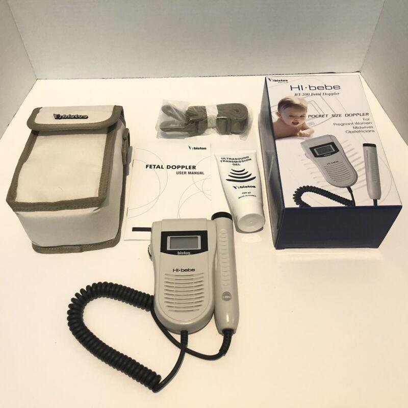 Bistos BT-200 Hi-Bebe Portable Fetal Doppler Compact Monitor TESTED💓💓🤰