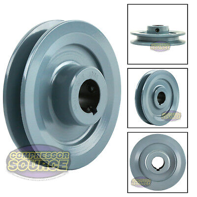 4 Cast Iron 78 Shaft Pulley Sheave Single 1 Groove V Style A Belt 4l New