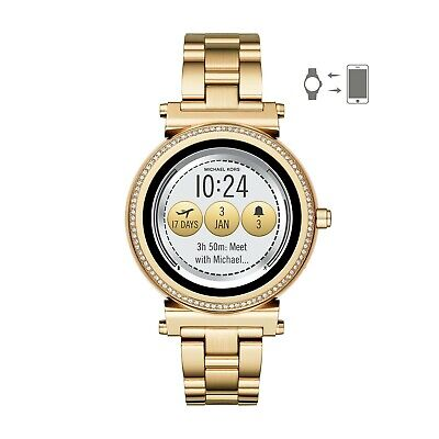 Michael Kors MKT5021 Access Sofie Womens Gold-Tone Stainless Steel SmartWatch